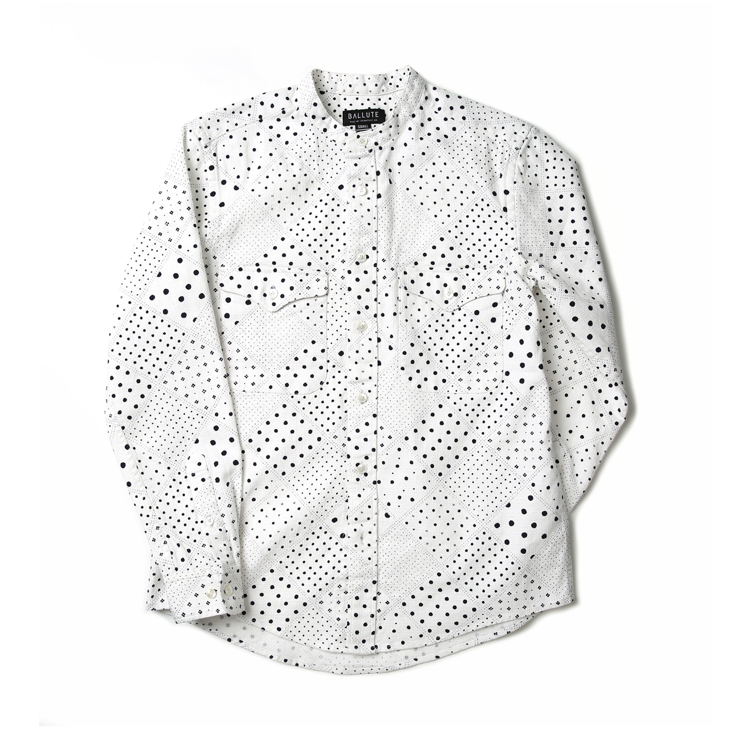 STAND COLLAR SHIRT (DOT)