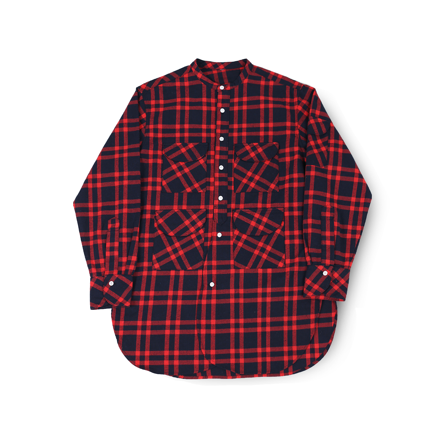 FISHERMAN TUNIC SHIRT (RED TARTAN)