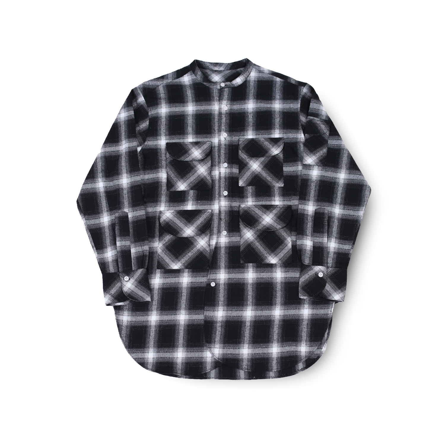 FISHERMAN TUNIC SHIRT (GREY CHECK)