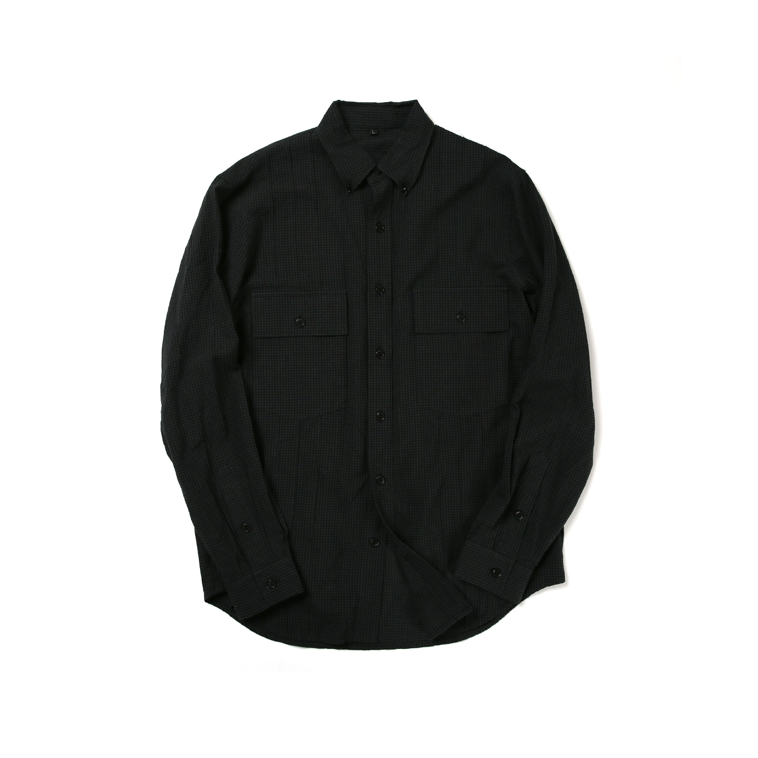 2 POCKET TUXEDO B.D SHIRT (BLACK GINGHAM)
