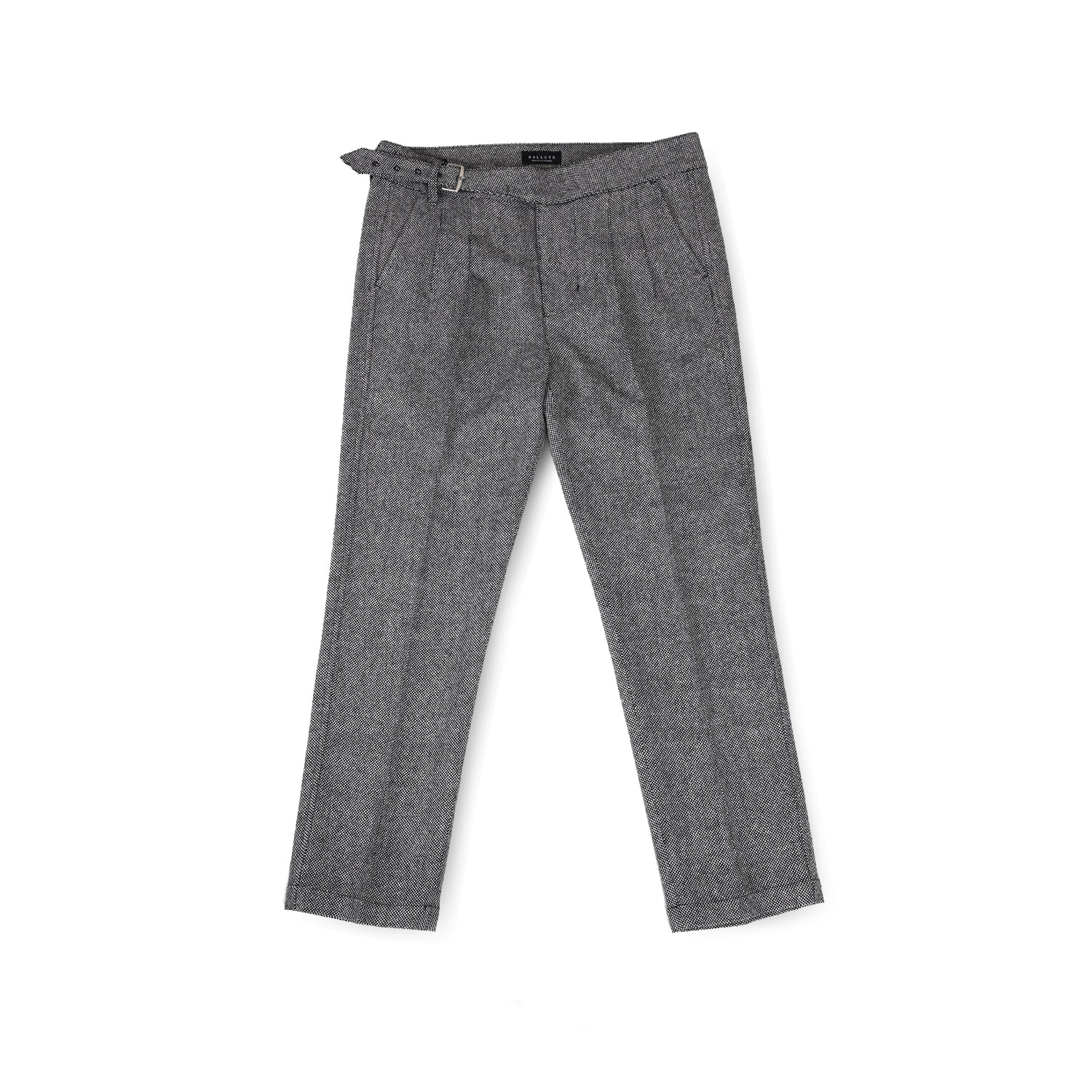 MAGAZINE SINGLE GURKHA PANTS (GREY WOOL)