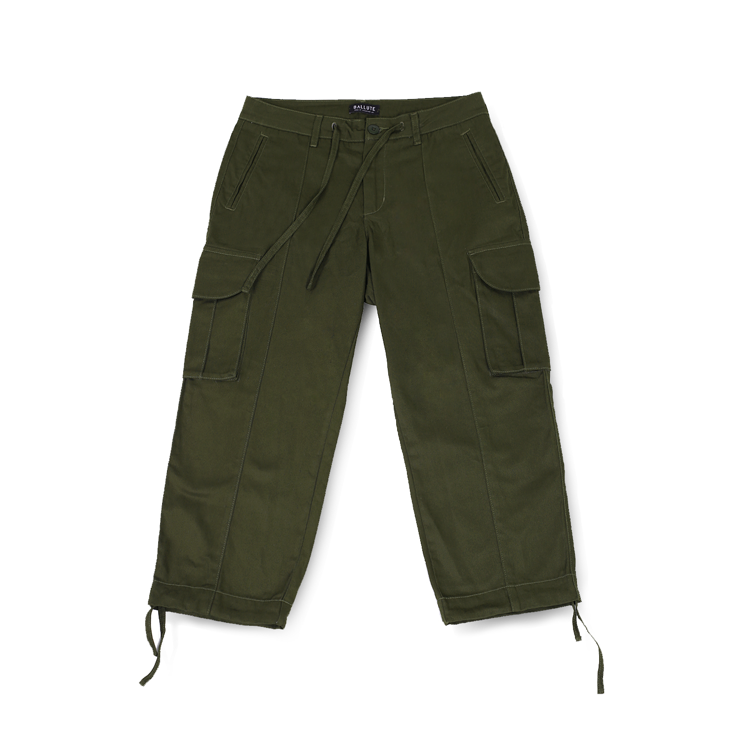 B.D.U WIDE STRING PANTS (OLIVE)
