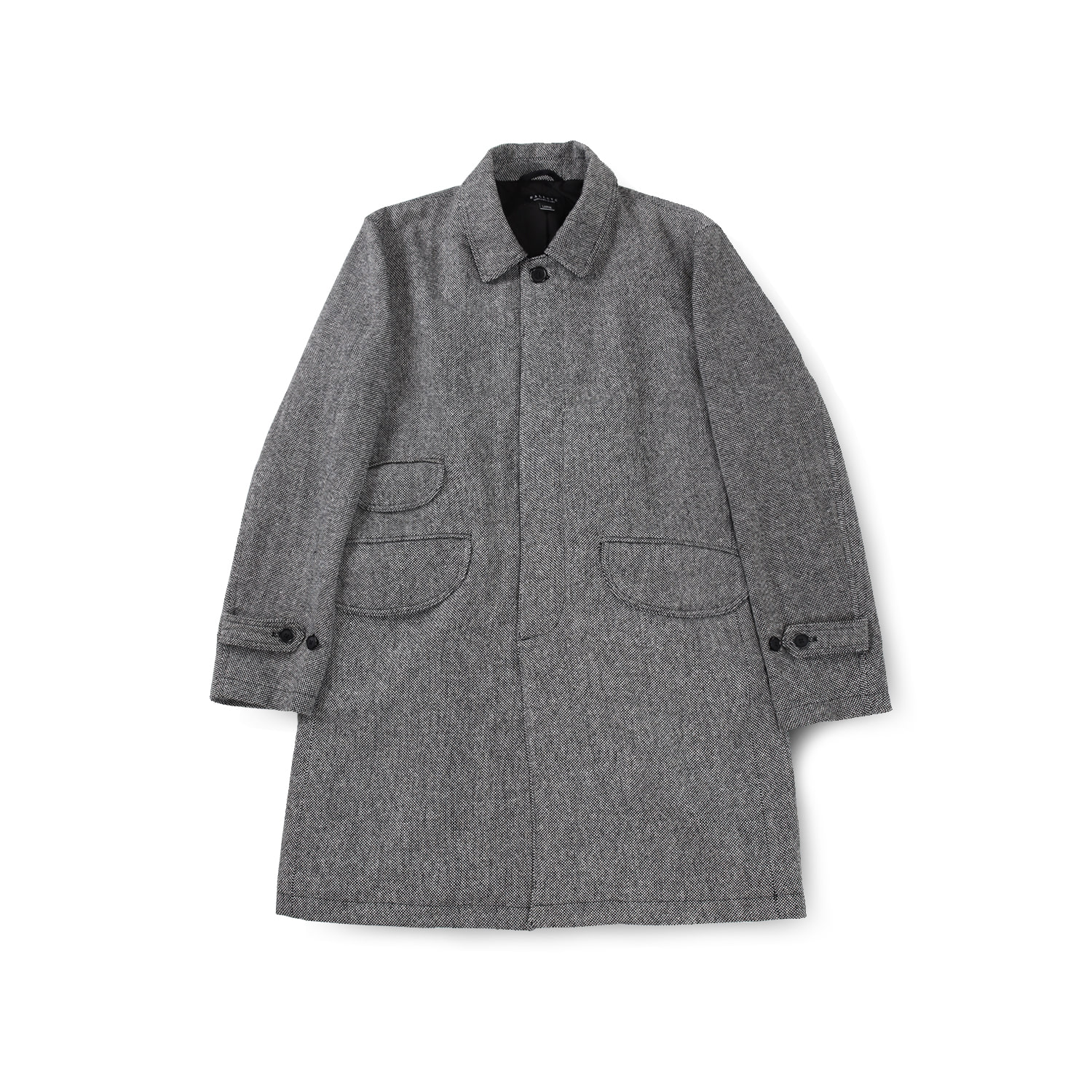 EASY BALMACAAN COAT (GREY WOOL)
