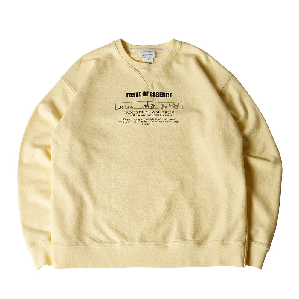 PRINTED LONG SLEEVE SWEATSHIRT YELLOW