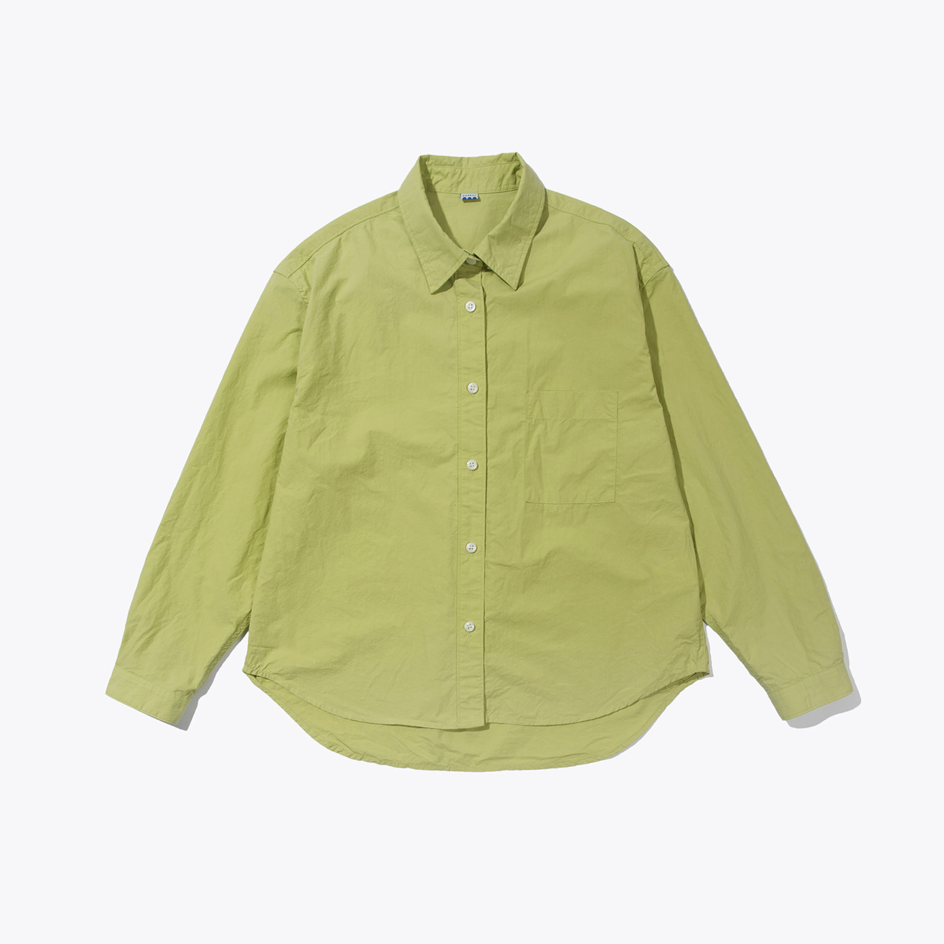 CROP WIDE SHIRT LIME
