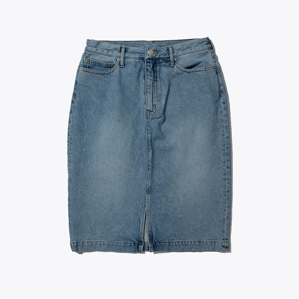 H-LINE DENIM SKIRT (BLEACH)