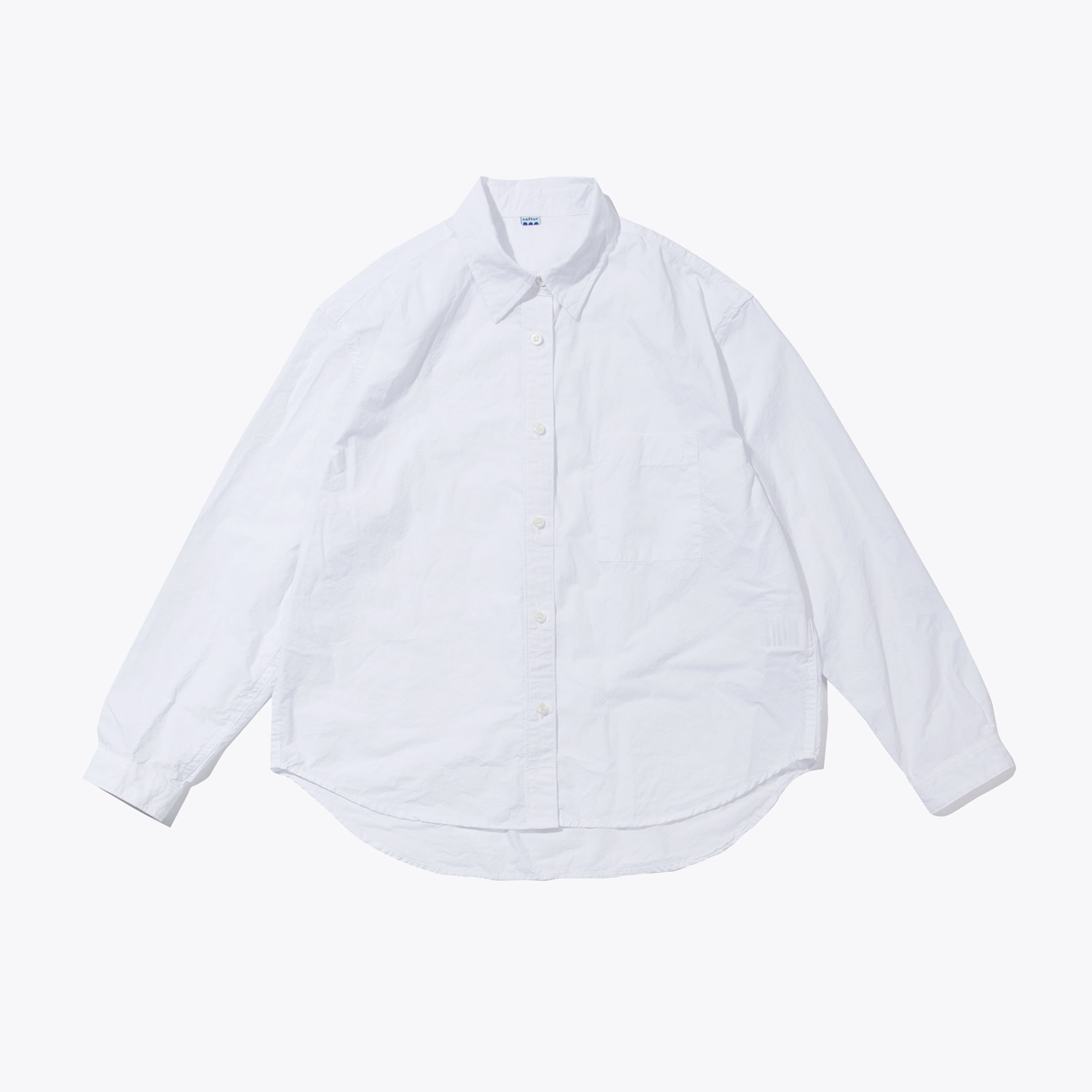CROP WIDE SHIRT WHITE