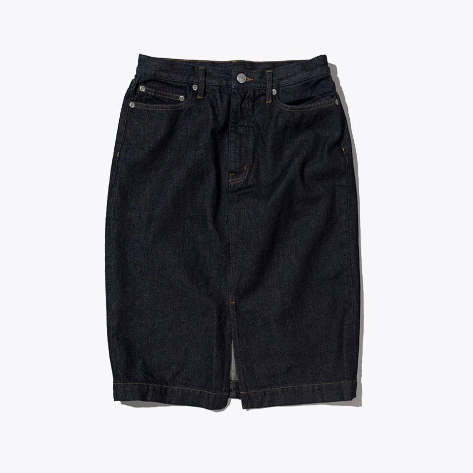 H-LINE DENIM SKIRT (INDIGO)