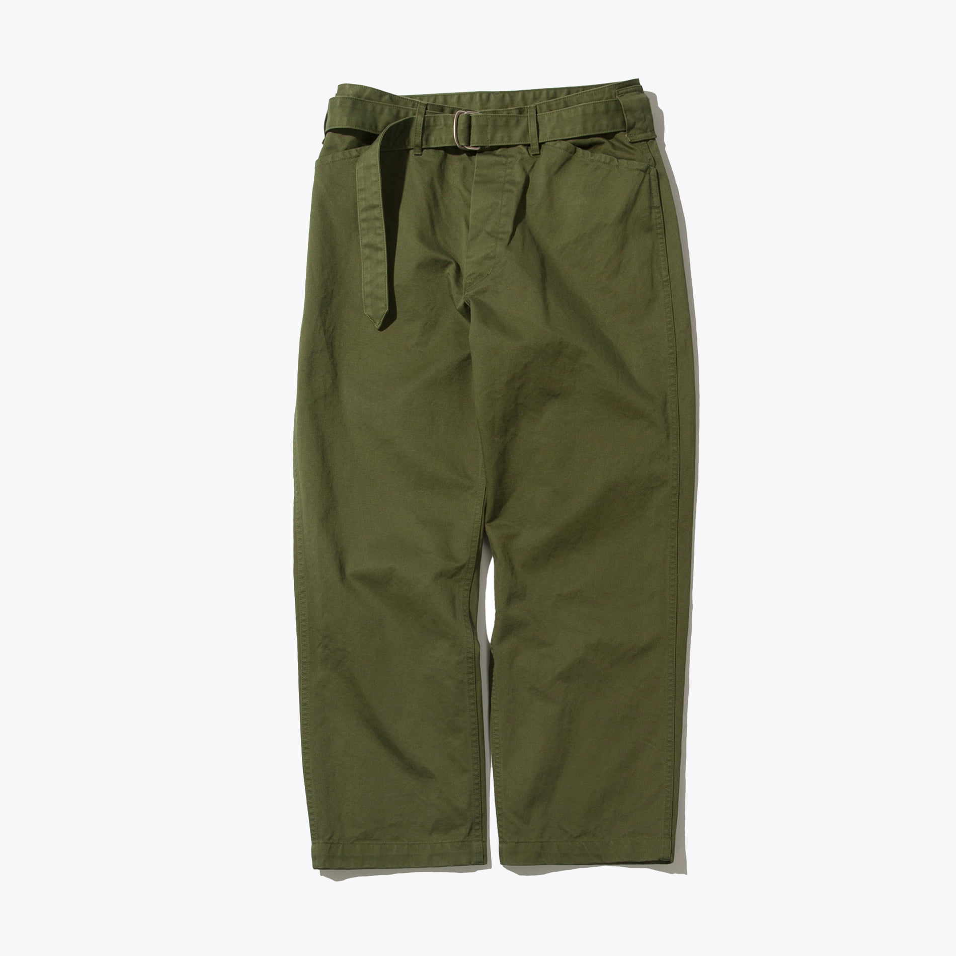 BELTED FATIGUE PANTS OLIVE