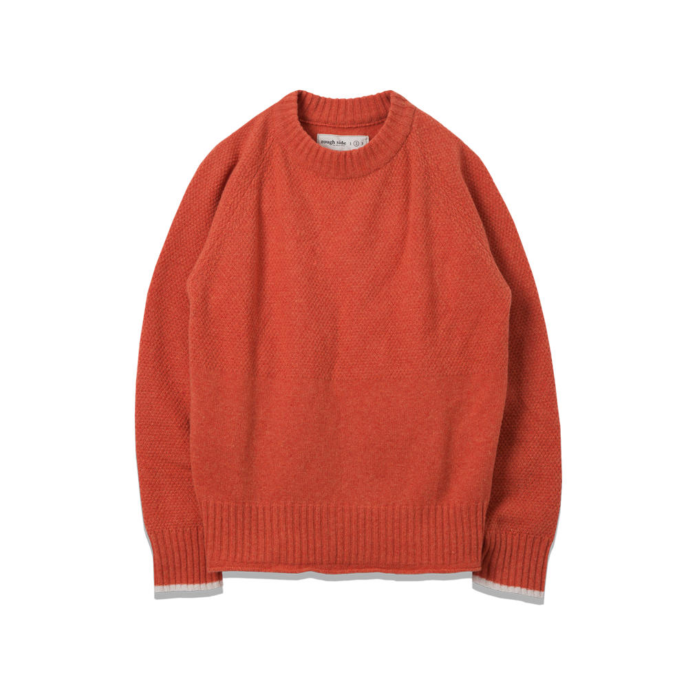 107. Fisherman Knit Orange