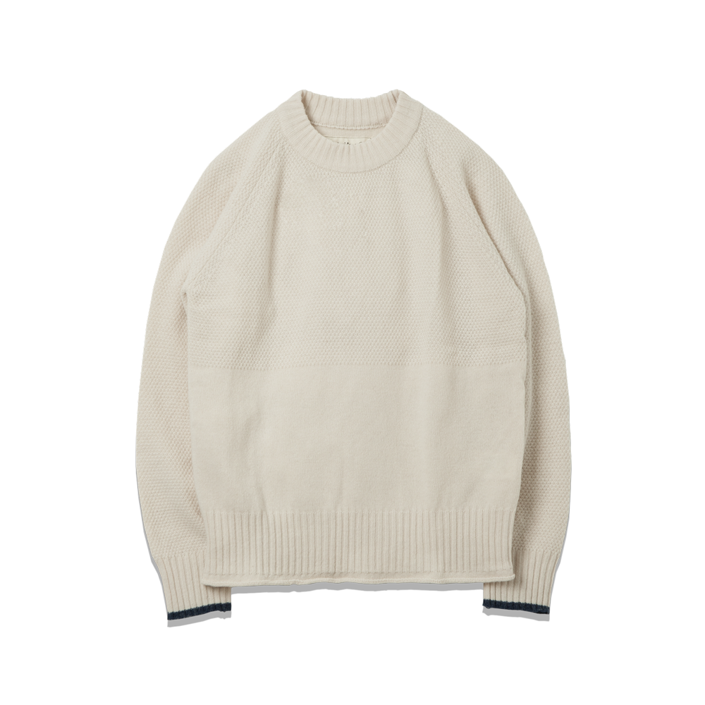 107. Fisherman Knit Ivory
