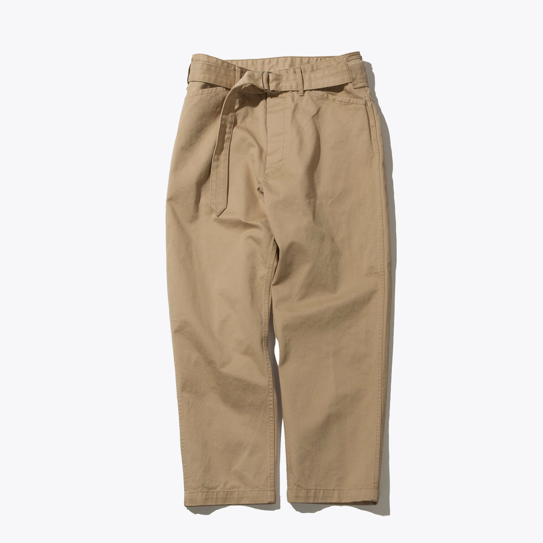 BELTED FATIGUE PANTS BEIGE