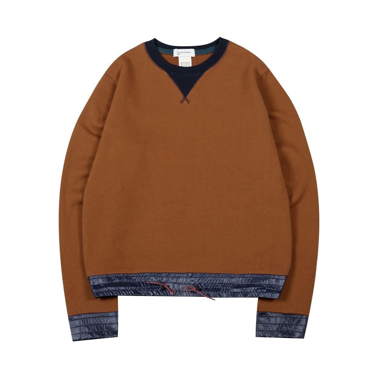 COLOR BLOCK SWEATSHIRT - BROWN
