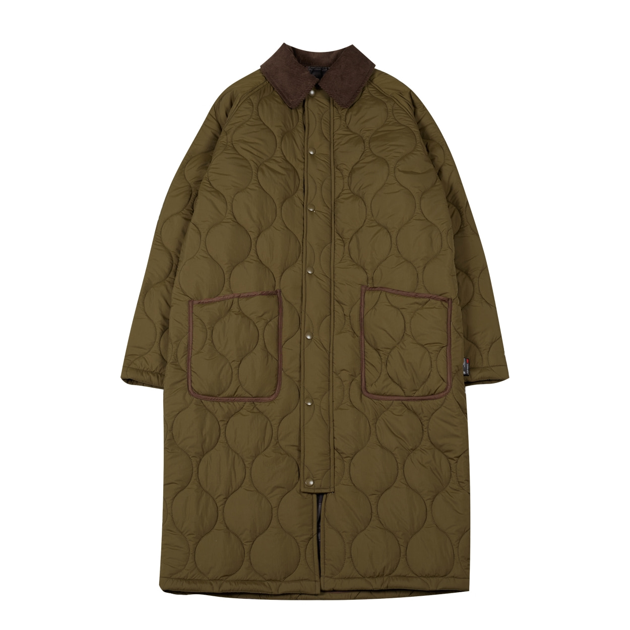 REVERSIBLE QUILTED COAT - KHAKI