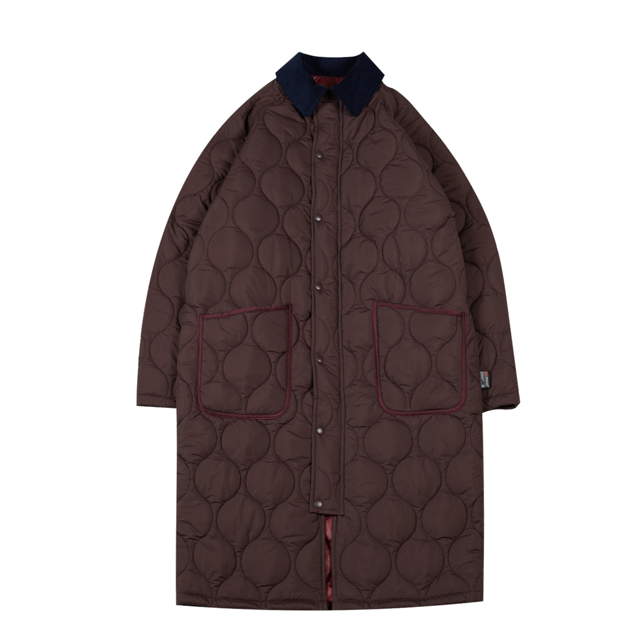 REVERSIBLE QUILTED COAT - BRICK