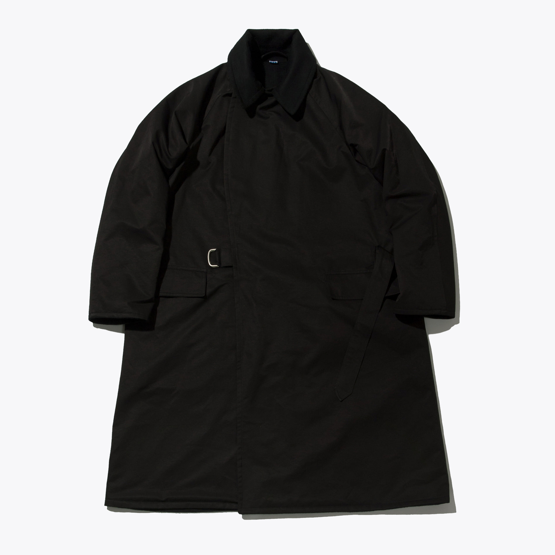 REVERSIBLE RAGLAN COAT BLACK