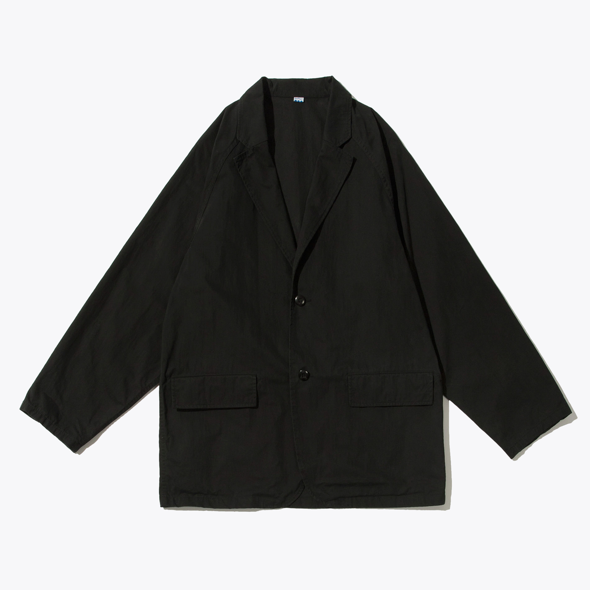 RAGLAN SINGLE JACKET BLACK