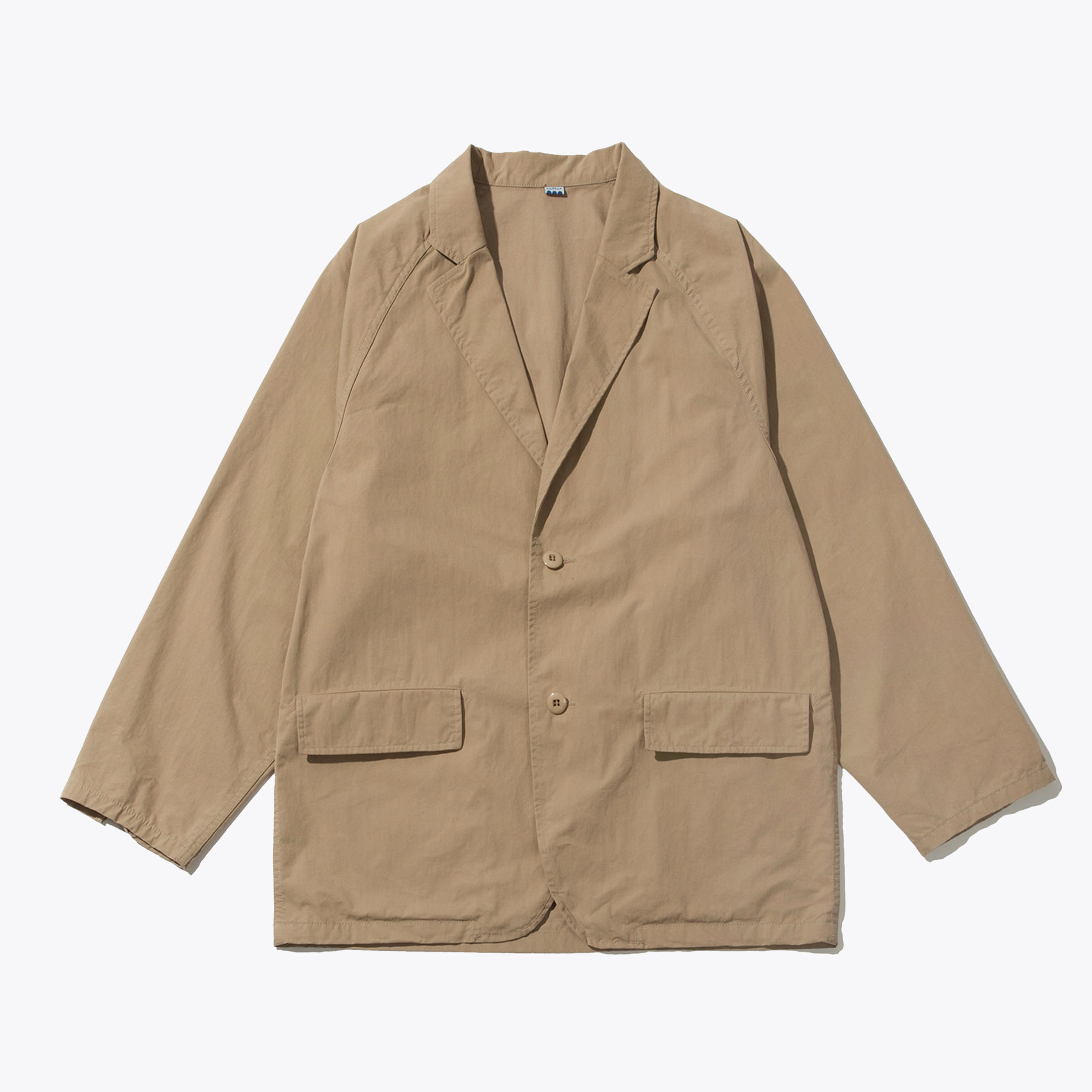 RAGLAN SINGLE JACKET BEIGE