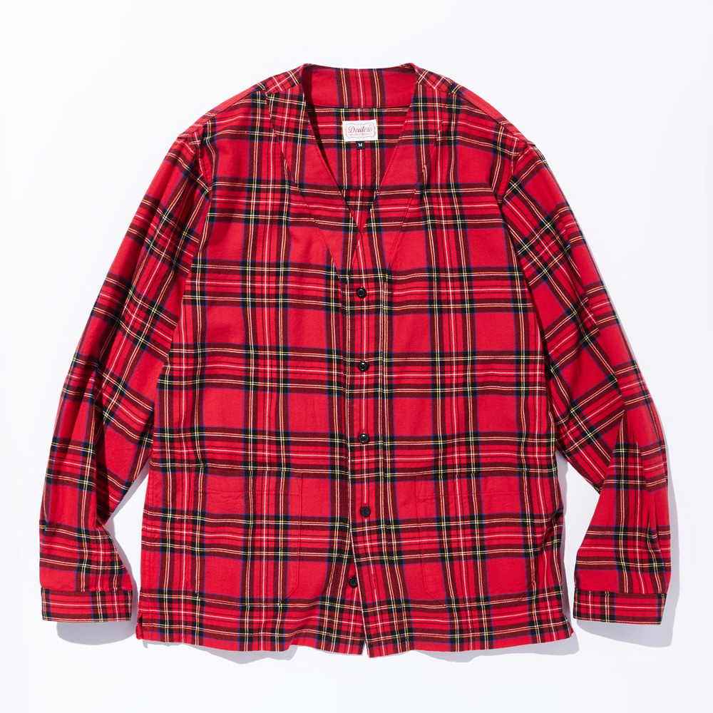 DTR1904 Cardigan Check Shirts Red