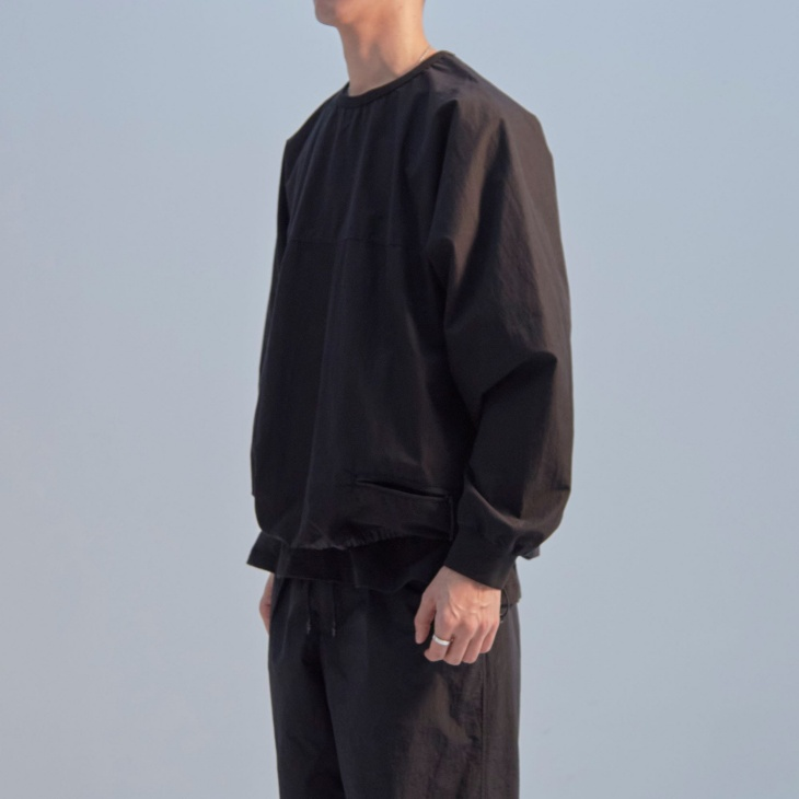 UTILITY SWEATSHIRT / BLACK (TACTEL® of DuPont)