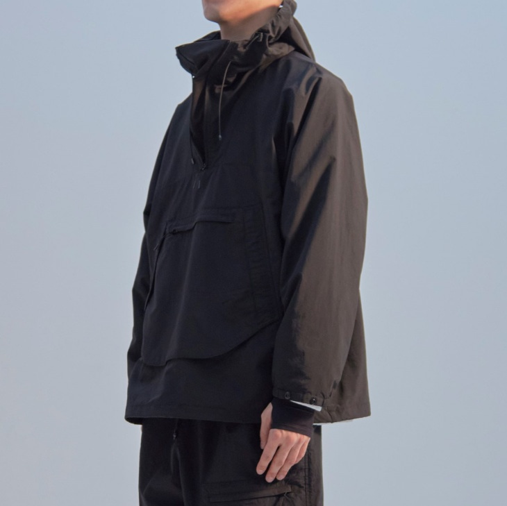 MOUNTAIN FN ANORAK / BLACK (TACTEL® of DuPont)