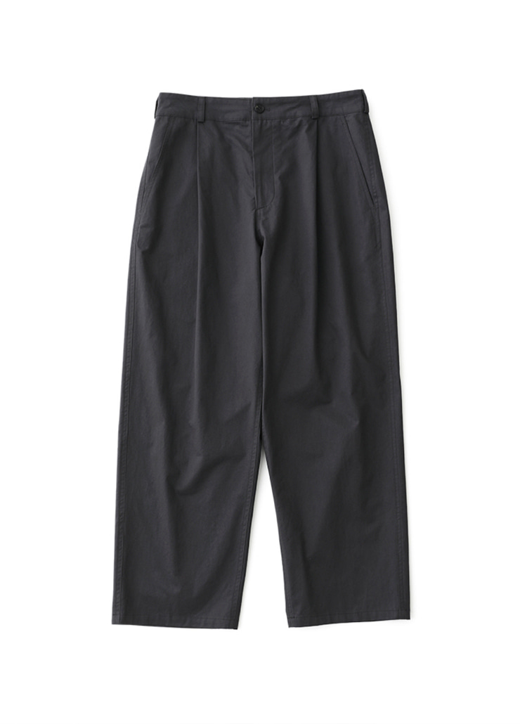 Wide Tapered Chino Pants (Charcoal)