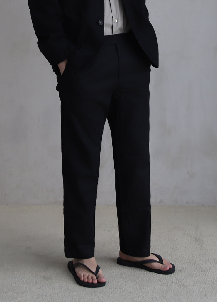 ALL WEATHE STANDARD PANTS BLACK (LINNEN)