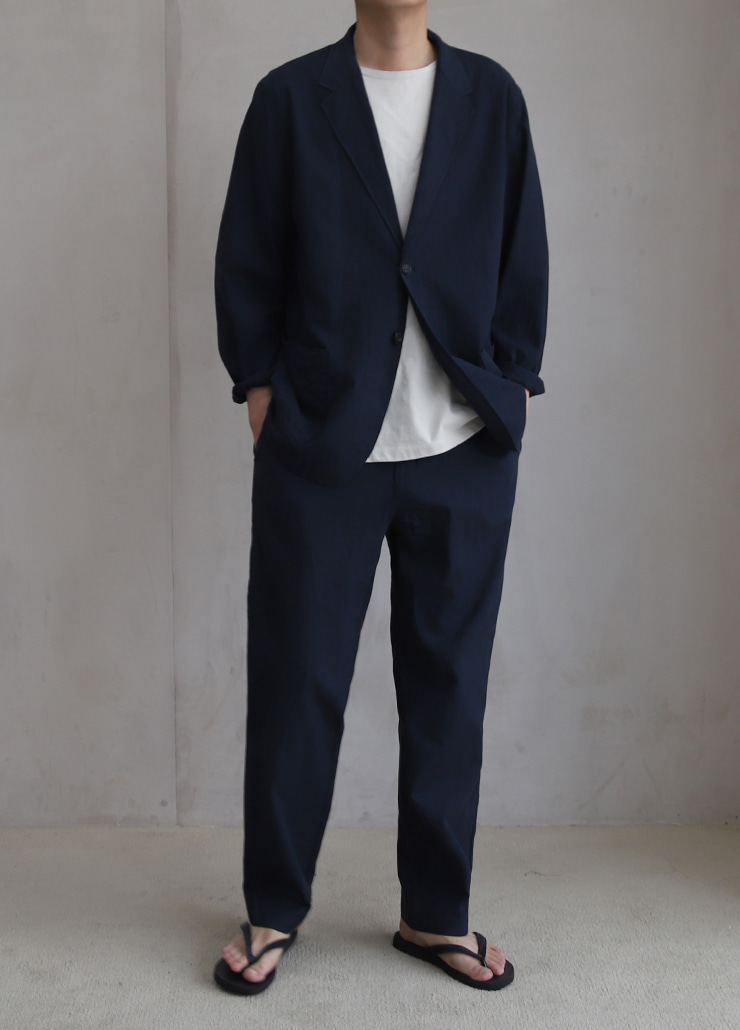 [7월28일순차배송] ALL WEATHE STANDARD SET-UP NAVY (LINNEN)
