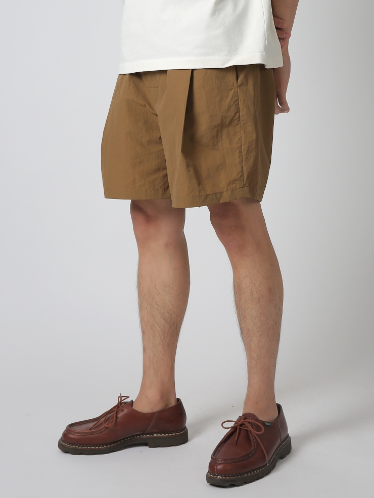 One Tuck Shorts Trousers Earth Beige